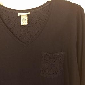 Catherine's navy lace pocket T size 2xl